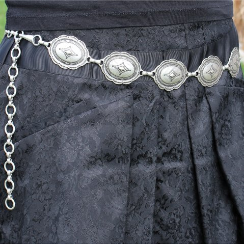 "Ladies belt with decorative chain ""Izabel"" - set of 5"