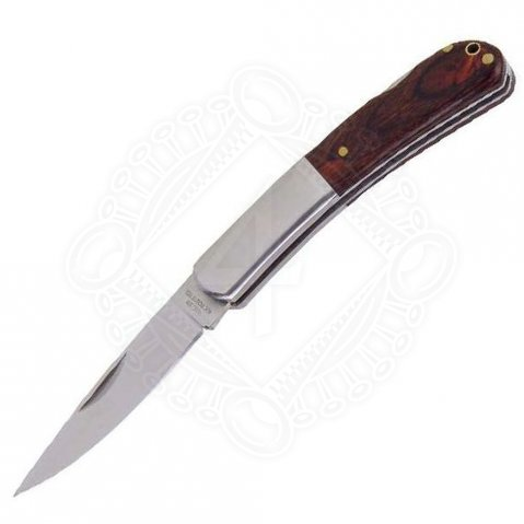 Pocketknife with divided handle cover from wood and metal