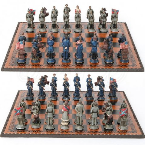 Chess figures Civil War