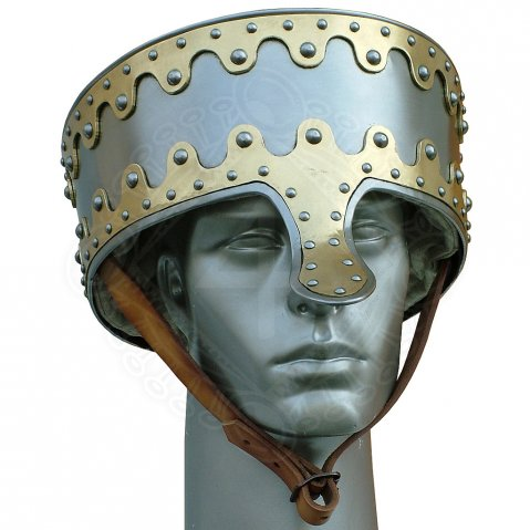English hret helm, 12th cen.