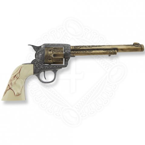 Revolver Colt 45 Peacemaker 31,5cm with fake ivory grip