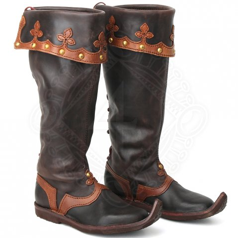 Decorated top boots nobleman, 12th - 15th cen.