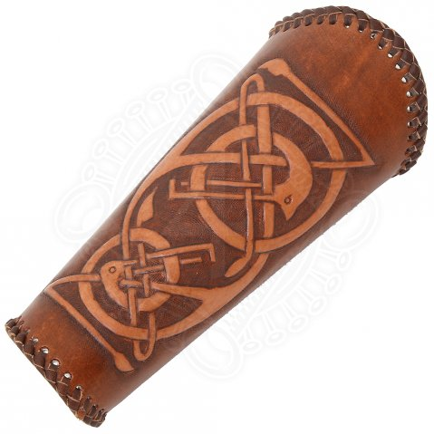 Archery arm guard, Celtic style