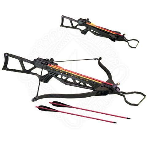 Crossbow with hinged flap limbs, 150lbs