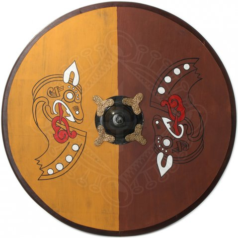 Viking Round Shield with Nordic horse motifs