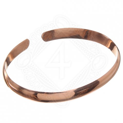 Half-round bracelet, bronze, smooth