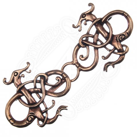 Viking Cloak Clasp Two Dragons, 90 * 39 mm