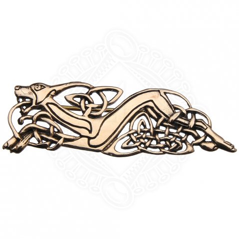 Cloak clasp 'Celtic Hound', 74 * 24 mm