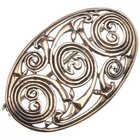 Celtic Brooch with spiral pattern, 50 * 30 mm
