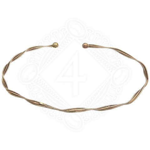 Choker from Bronze, twisted
