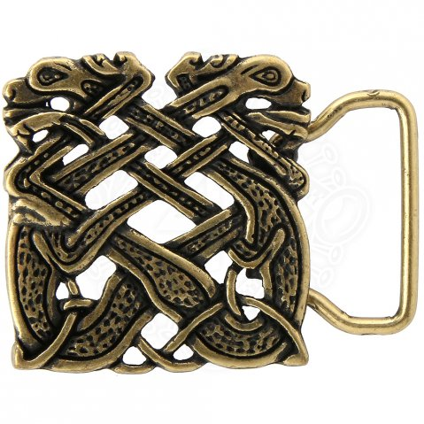 Belt Buckle Celtic Dogs, 30 mm