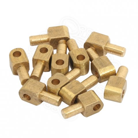 Vervelles, brass pins for bascinet helmets, set of 12 pcs
