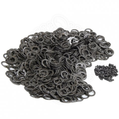 Flat rings for riveting, ID 8mm, natural finish, 1kg