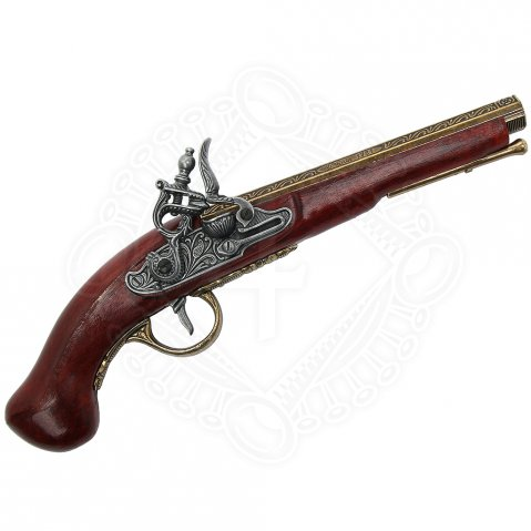 Flintstock Pistol Paris 1781, Brass