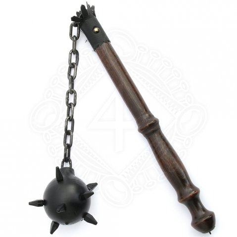 Flail with a wooden ball and steel thorns