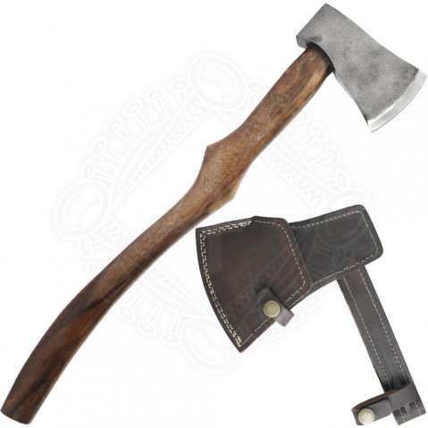 Big axe with shaped handle