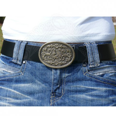 Belt with decorative buckle - set of 5