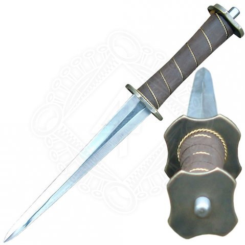 Dagger with disc-shaped guard