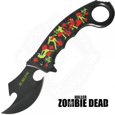 Zombie Dead Karambit Knife - blood