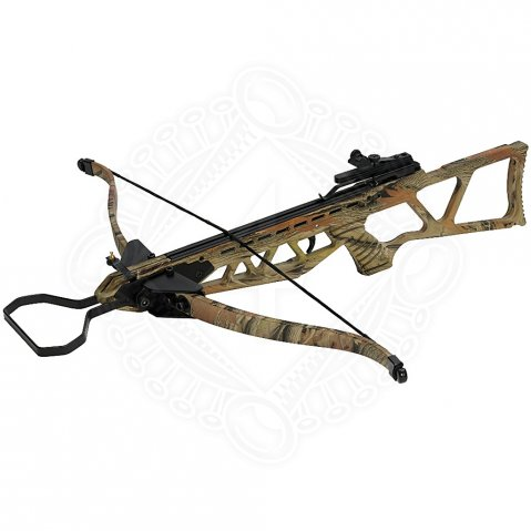 Rifle CROSSBOW 130 lbs Camo with retractable bow and stirrup