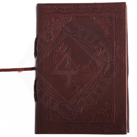 Celtic Winged Heart leather Journal