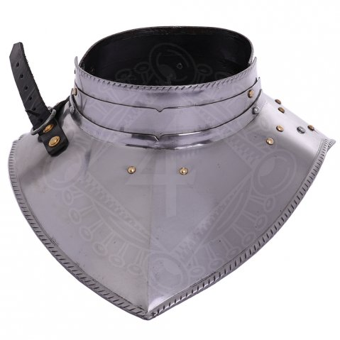 Steel Gorget with Articulated Band Collar, 16 gauge