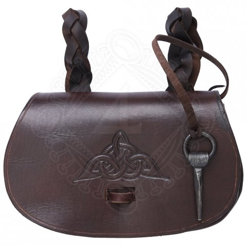 Viking belt pouch with knot pattern