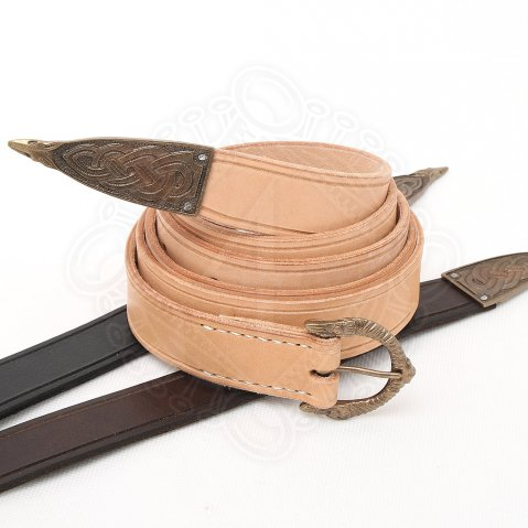 Historical leather belt with a buckle