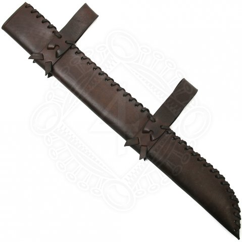 Belt scabbard for a seax