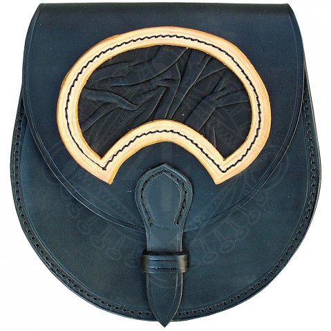 "Leather bag ""Boar's tooth"""