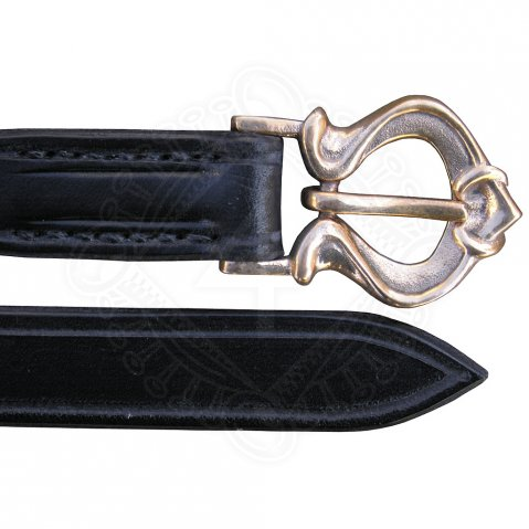 Narrow Viking belt with a bronze buckle