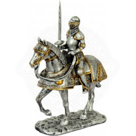 Resin Statue Knight on Horse with sword