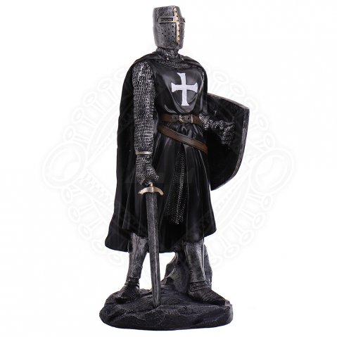 Figure knight German knight order with sword and shield 30cm