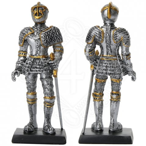 Renaissance Knights figure in armor with sword