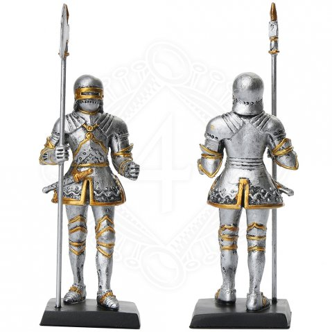 Statuette Knight with halberd in right hand