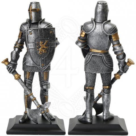 Statuette Knight with shield and axe