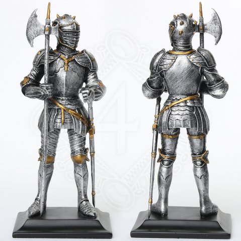 Statuette Knight with halberd and sword