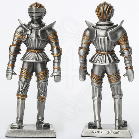 Tin knight statue in Tornament Armor with Armet