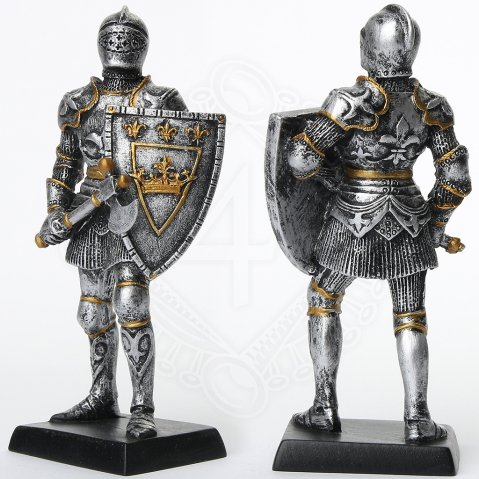 Figure of a French Royal Knight with shield and war axe