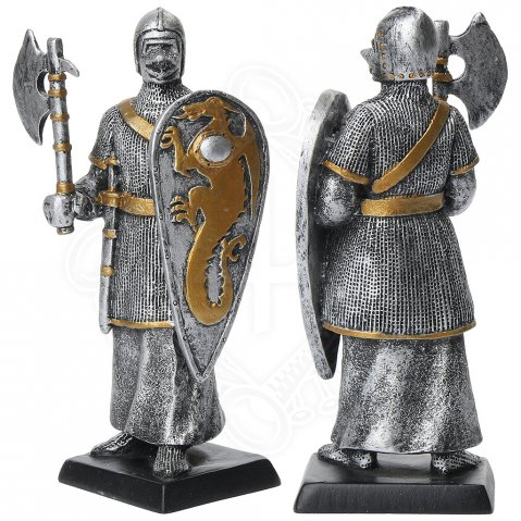 Figure of a warrior with kite shield and a war axe