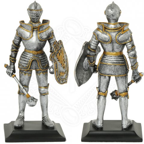 Knight with mace and german eagle on the shield, figure