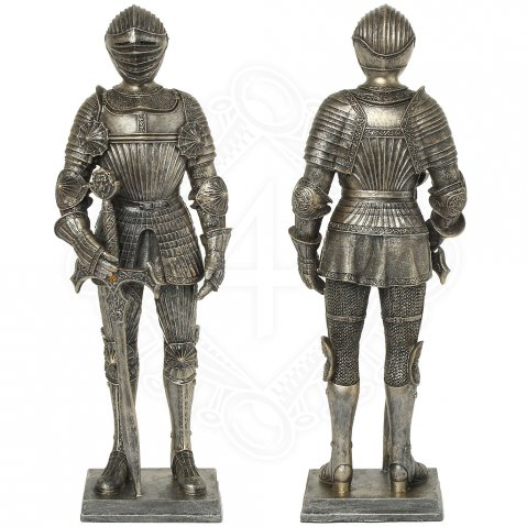 Knight in a richly fluted armor, figure