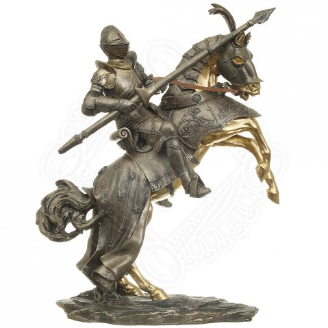 Statuette Knight on horseback, 46 cm