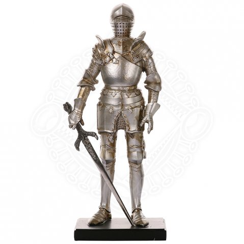 Figur knight in Tournament Armour with dragon sword