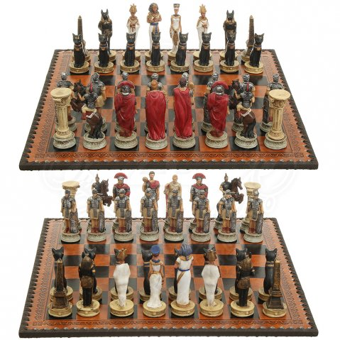 Chess Set Rome vs. Egypt