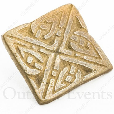 Set of 10 square button with celtic motif