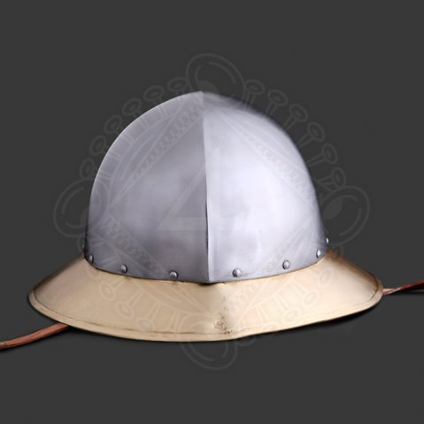 Kettle hat with brass brim