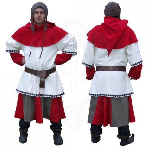 Medieval drummer costume red