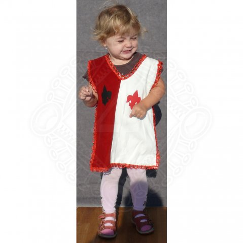 Children tabard red-white