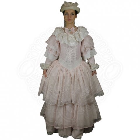 Rococo dress with lace